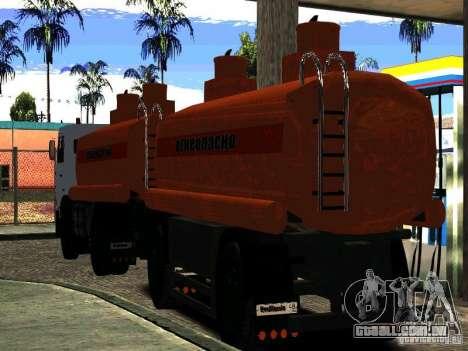 MAZ 533702 caminhão para GTA San Andreas vista direita