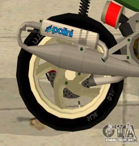 Gilera Runner 50SP Skin 4 para GTA San Andreas vista direita