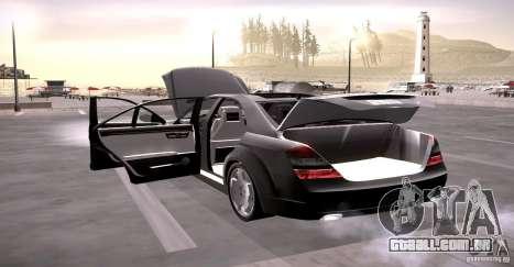 Mercedes-Benz S600 v12 para GTA San Andreas vista superior