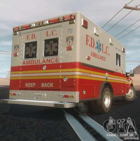Ford F350 FDLC Ambulance v3.0 ELS para GTA 4 vista de volta