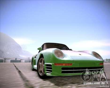 Porsche 959 1987 para GTA San Andreas traseira esquerda vista