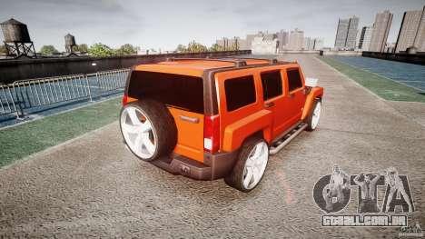 Hummer H3 para GTA 4 traseira esquerda vista