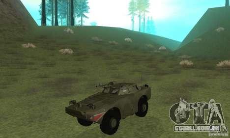 BRDM-1 pele 4 para GTA San Andreas esquerda vista