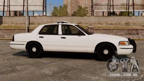 Ford Crown Victoria Unmarked ELS para GTA 4 esquerda vista