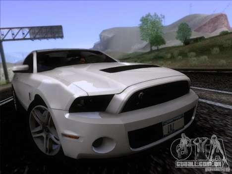 Ford Shelby Mustang GT500 2010 para GTA San Andreas traseira esquerda vista