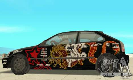 Honda-Superpromotion para GTA San Andreas traseira esquerda vista