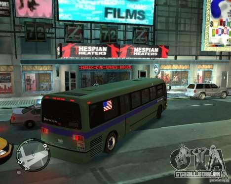 MTA NYC bus para GTA 4 traseira esquerda vista