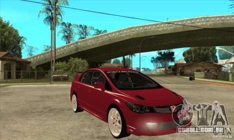 Honda Civic Mugen RR para GTA San Andreas vista traseira