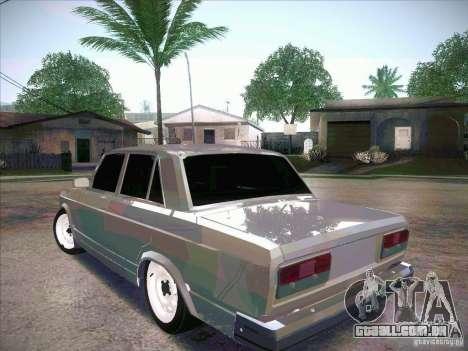 VAZ 2107 criminoso para GTA San Andreas esquerda vista