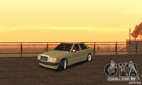 Mercedes-Benz 190E para GTA San Andreas traseira esquerda vista
