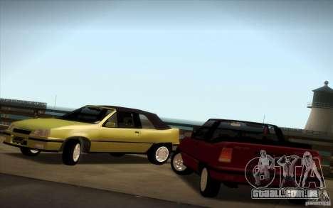 Chevrolet Kadett GSI Cabrio para GTA San Andreas vista direita