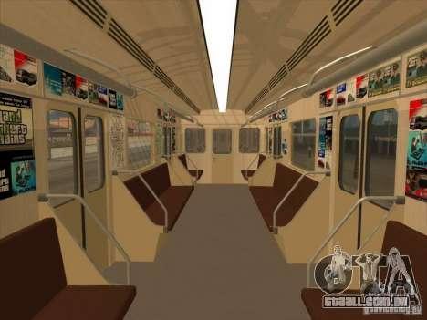 Tubo tipo 81-717 para GTA San Andreas vista interior