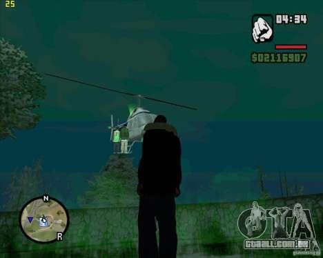 Helicóptero ajuda para GTA San Andreas terceira tela