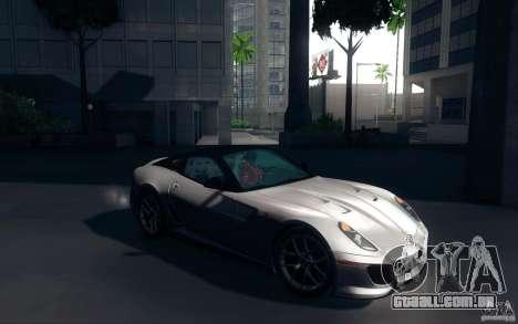 Ferrari 599 GTO 2011 para GTA San Andreas vista direita