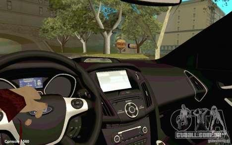 Ford Focus para GTA San Andreas traseira esquerda vista