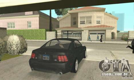 Ford Mustang GT 1999 (3.8 L 190 hp V6) para GTA San Andreas esquerda vista