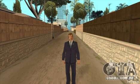 Dmitry Anatolyevich Medvedev para GTA San Andreas segunda tela
