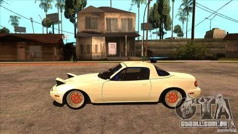 Mazda Miata JDM para GTA San Andreas esquerda vista