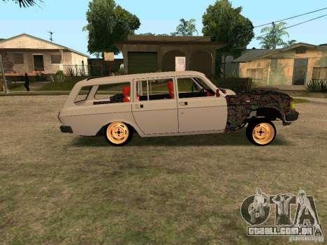 GAZ Volga 310221 para GTA San Andreas vista traseira