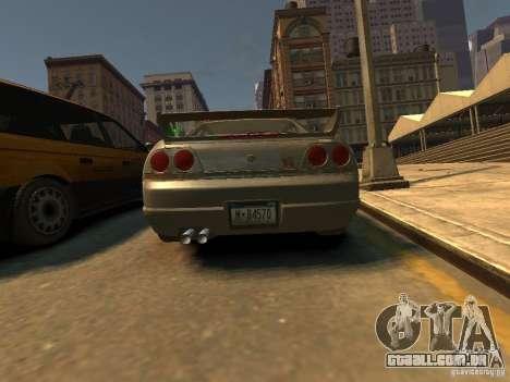 Nissan Skyline GT-R V-Spec (R33) para GTA 4 traseira esquerda vista