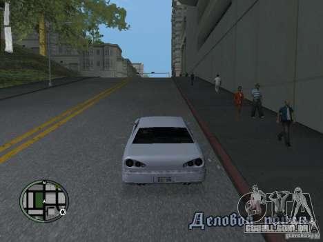 Elegy HD para GTA San Andreas esquerda vista