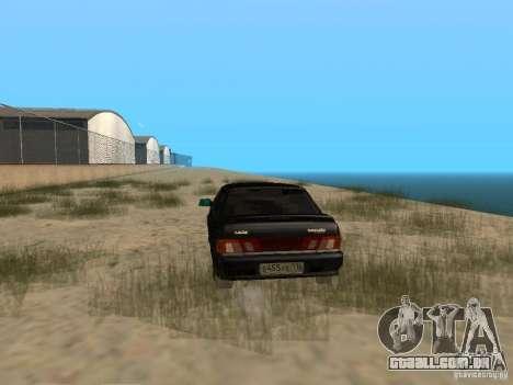 Vaz 2115 Tun luz v. 1.1 para GTA San Andreas traseira esquerda vista