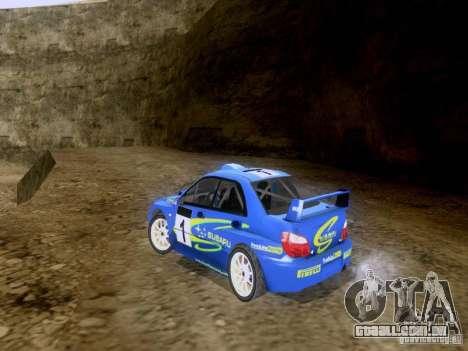 Subaru Impreza WRC 2003 para GTA San Andreas traseira esquerda vista