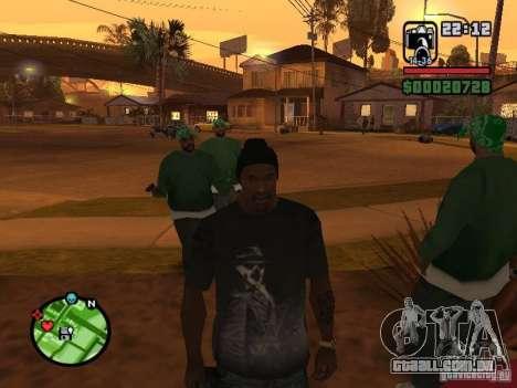 Camisa de Rorschach de Watchmen para GTA San Andreas terceira tela