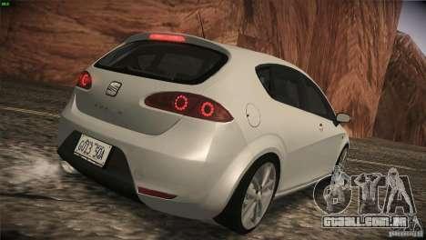 Seat Leon Cupra para GTA San Andreas vista traseira