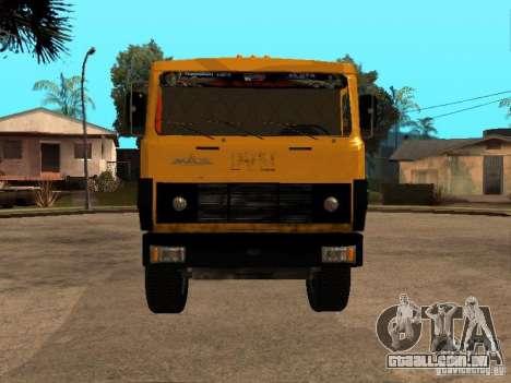 MAZ 54323 CAMINHÃO DE LIXO para GTA San Andreas traseira esquerda vista