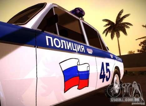VAZ 2106 polícia v 2.0 para GTA San Andreas vista direita