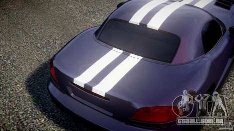 Dodge Viper RT 10 Need for Speed:Shift Tuning para GTA 4 vista de volta
