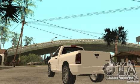 Dodge Ram SRT 10 para GTA San Andreas traseira esquerda vista