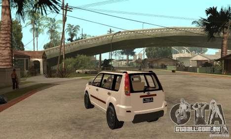 Nissan X-Trail para GTA San Andreas traseira esquerda vista