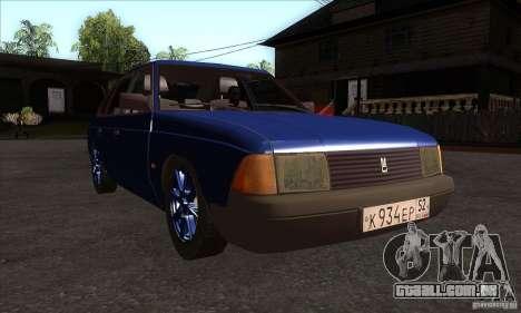 2141 AZLK pessoas edição para GTA San Andreas vista traseira