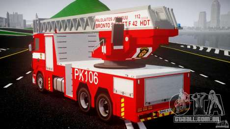 Scania R580 Fire ladder PK106 [ELS] para GTA 4 traseira esquerda vista