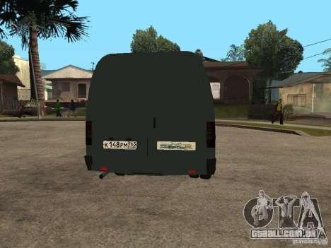 Gazela 2705 negócios para GTA San Andreas vista traseira