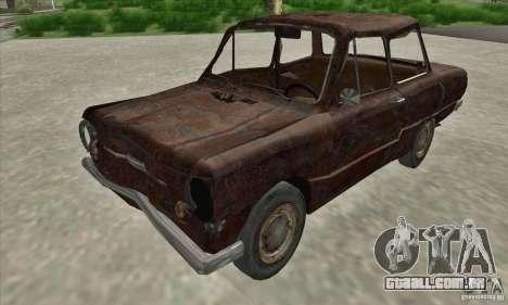 ZAZ 968 abandonado v. 2 para GTA San Andreas esquerda vista