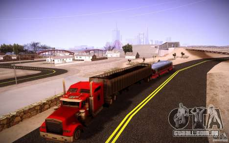 Kenworth W 900L para GTA San Andreas vista superior