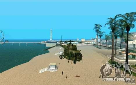 MI-8 para GTA San Andreas vista direita