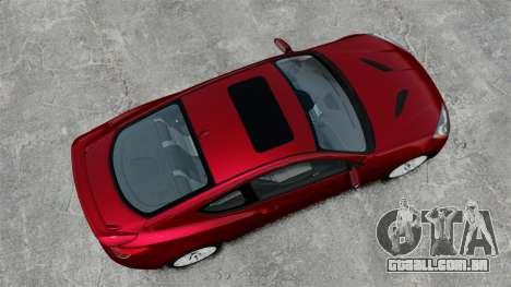 Hyundai Genesis Coupe 2013 para GTA 4 vista direita