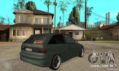 Opel Astra GSI 1993 Custom para GTA San Andreas vista direita