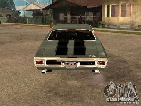 Chevrolet Chevelle SS 454 1970 para GTA San Andreas traseira esquerda vista