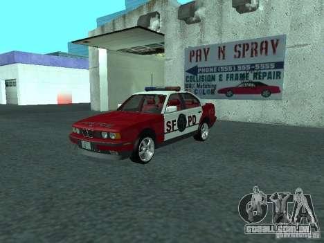 BMW 535i E34 Police para GTA San Andreas
