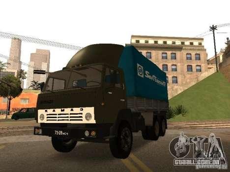KAMAZ 5320 para vista lateral GTA San Andreas