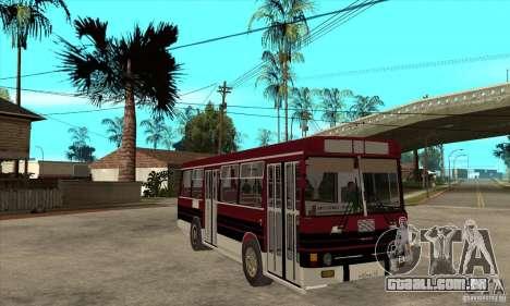 LAZ-4202 para GTA San Andreas vista traseira
