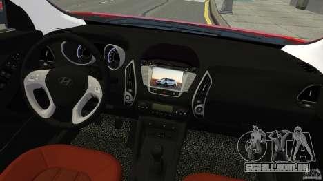 Hyundai Santa Fe Sport 2013 para GTA 4 vista de volta