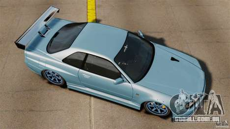 Nissan Skyline GT-R (BNR34) 2002 para GTA 4 vista direita