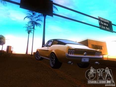 Ford Mustang 1967 GT Tuned para GTA San Andreas esquerda vista