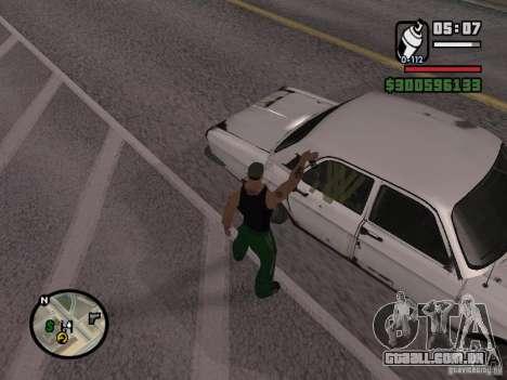Redesenho do atuador para GTA San Andreas oitavo tela